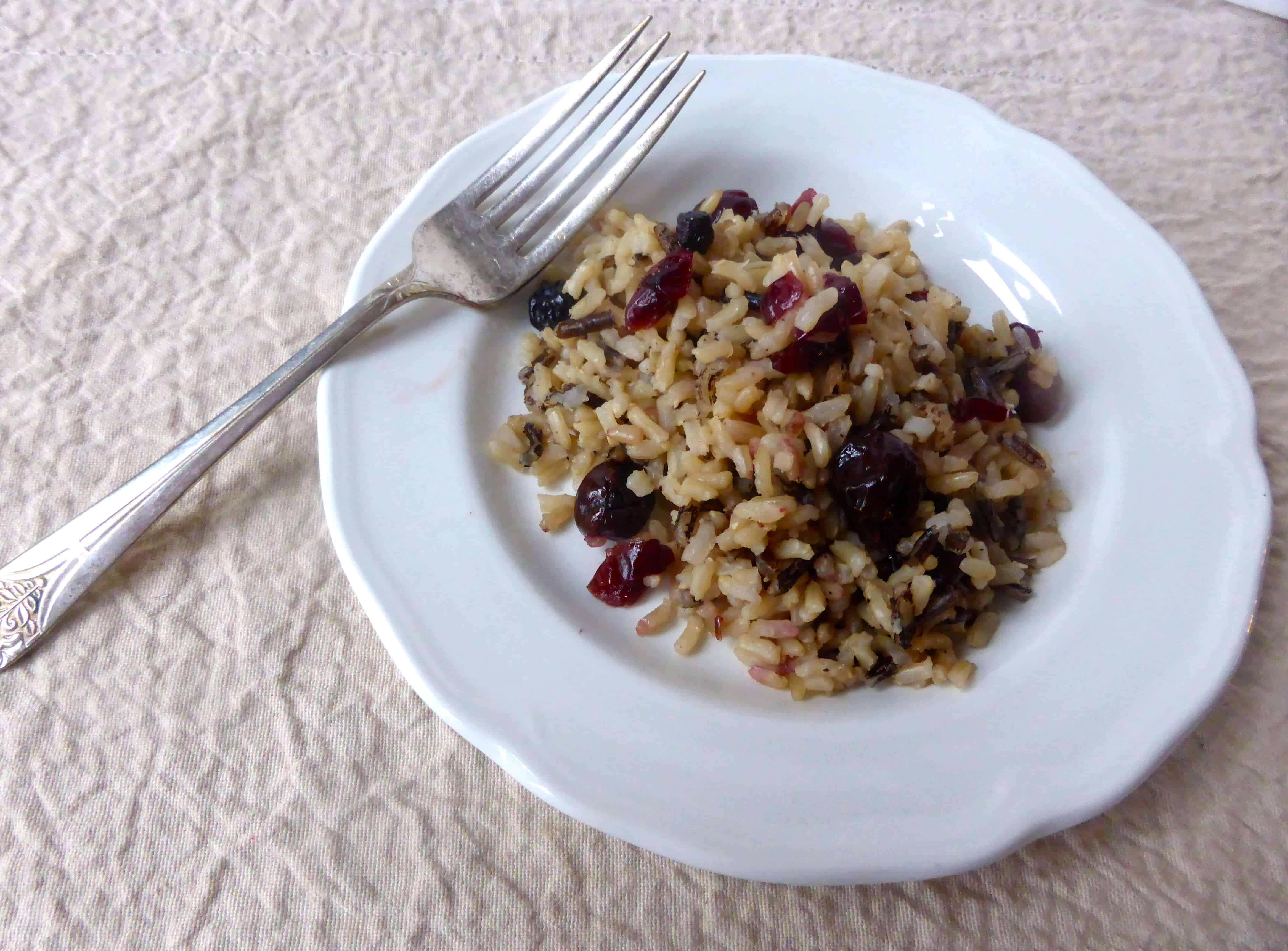 Wild and Brown Rice with Dried Cherries