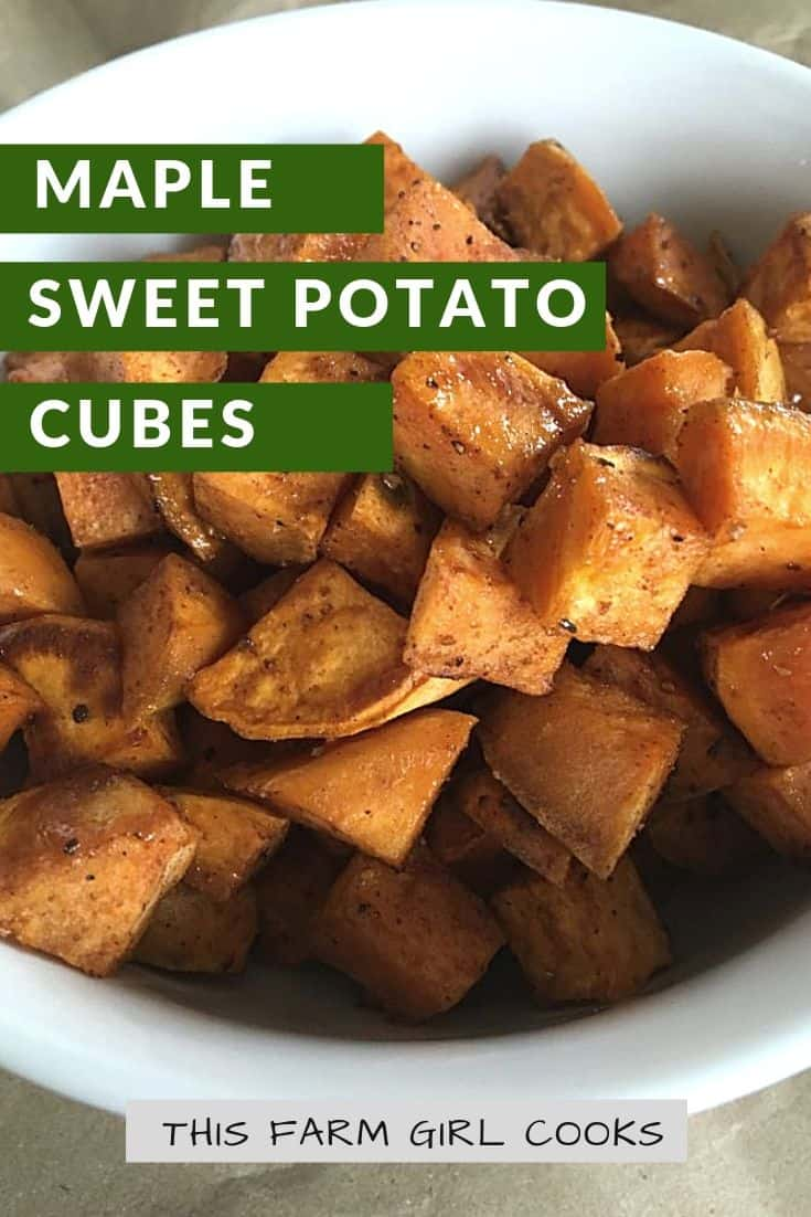 cubed roasted sweet potatoes