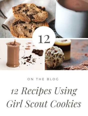 12 Recipes using girl scout cookies