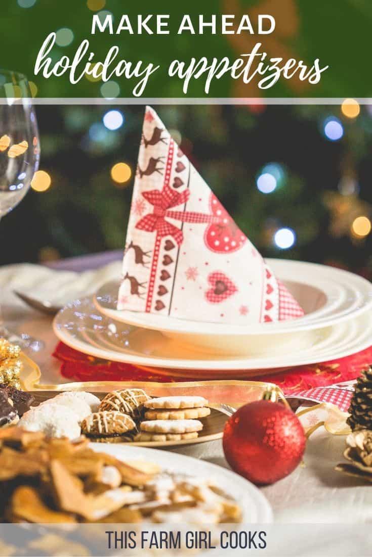 make ahead holiday recipes