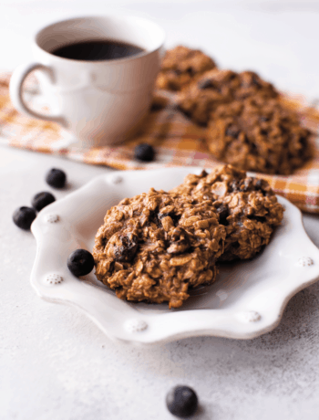 breakfast cookies with cup of coffee