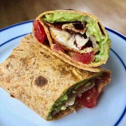 chicken avocado blt wrap
