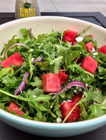 arugula watermelon feta summer salad dressing