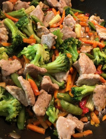 Easy Pork Stir Fry family friendly, kid approved for busy nights.
