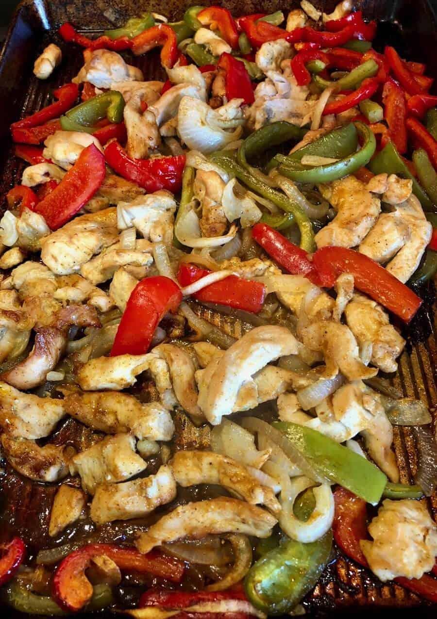 freezer meal chicken fajitas