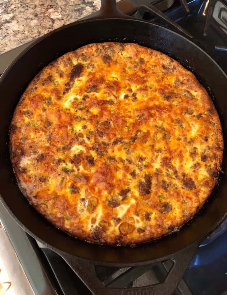 low-carb crustless sausage and cheese quiche