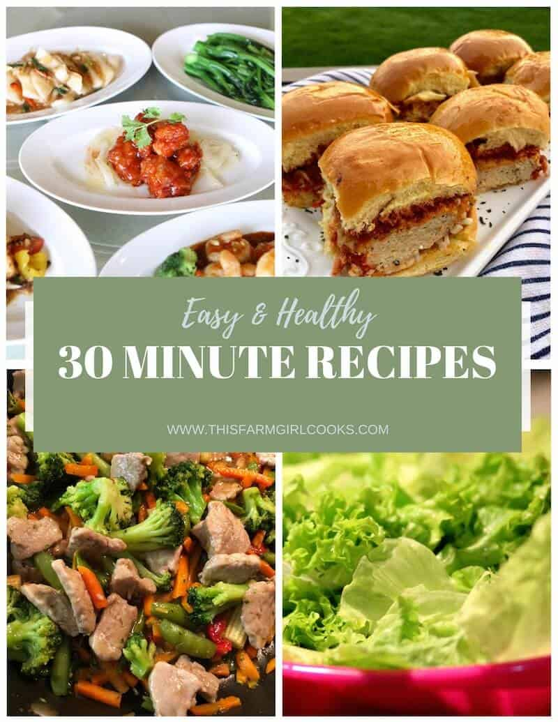 healthy 30 minute meals
