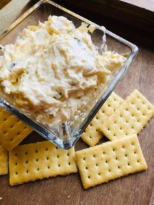 if you're looking for a sweet and spicy appetizer recipe, try Jalapeno Peach Dip with only 4 ingredients!
