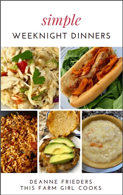 simple weeknight meals cookbook
