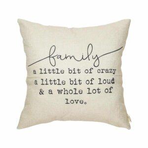 family pillow gift idea