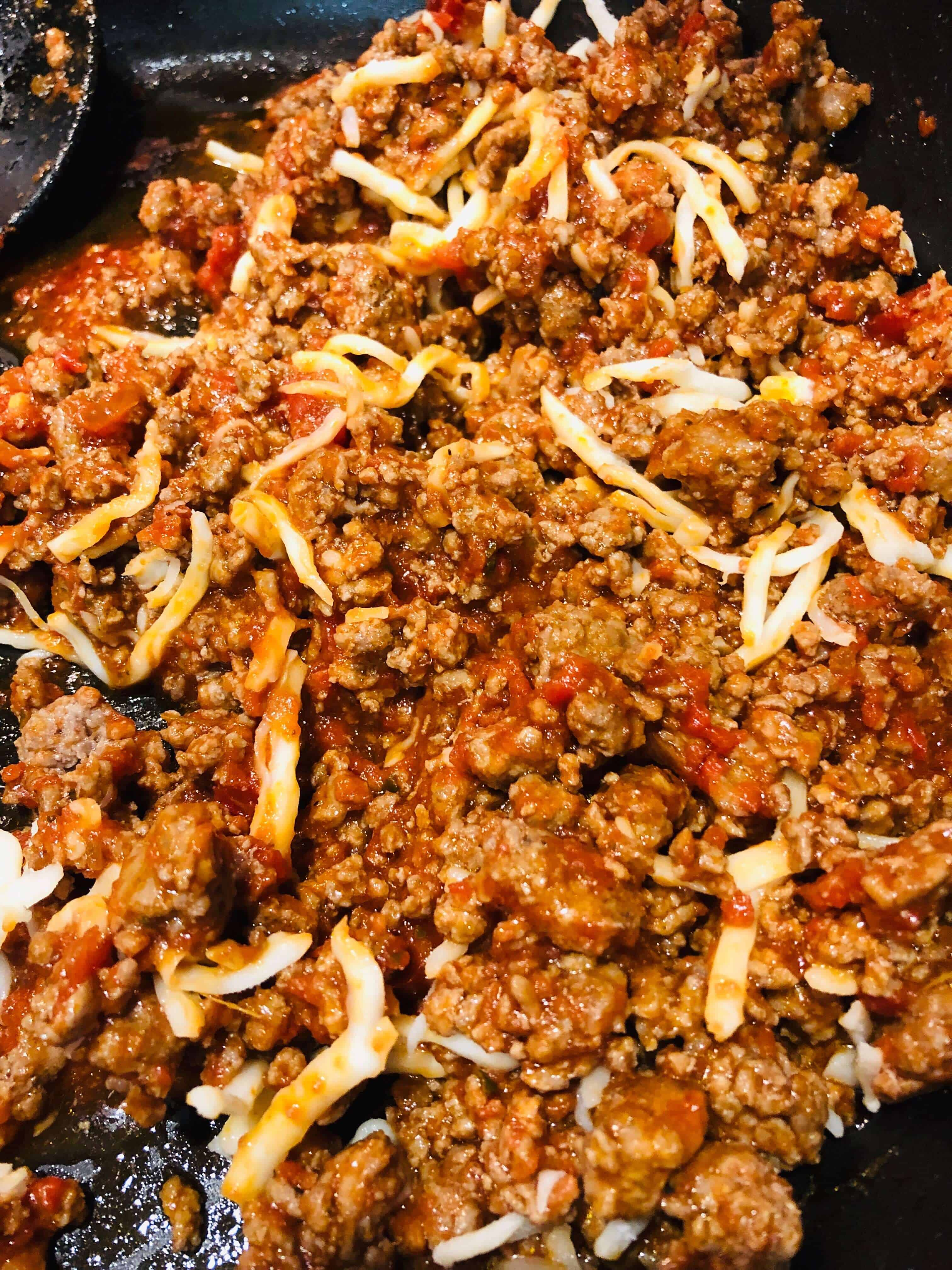 meat filling for lasagna cups