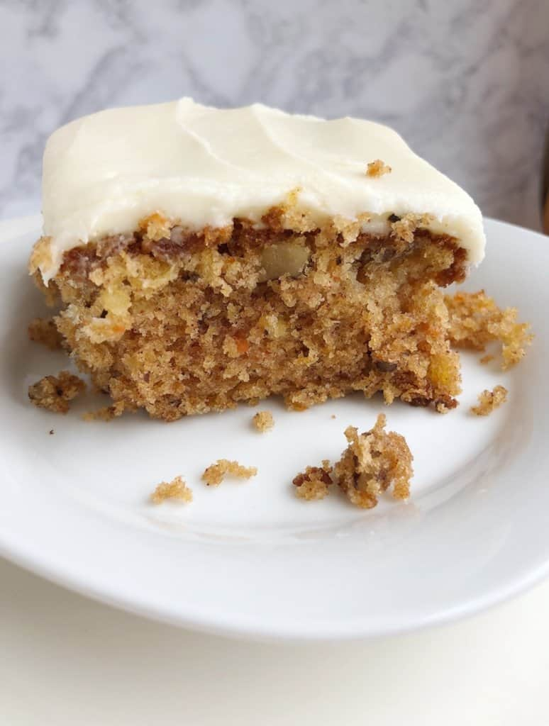 Pineapple Carrot Cake with Cream Cheese Frosting - YUM!