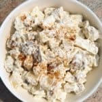 creamy potato salad with mayonnaise