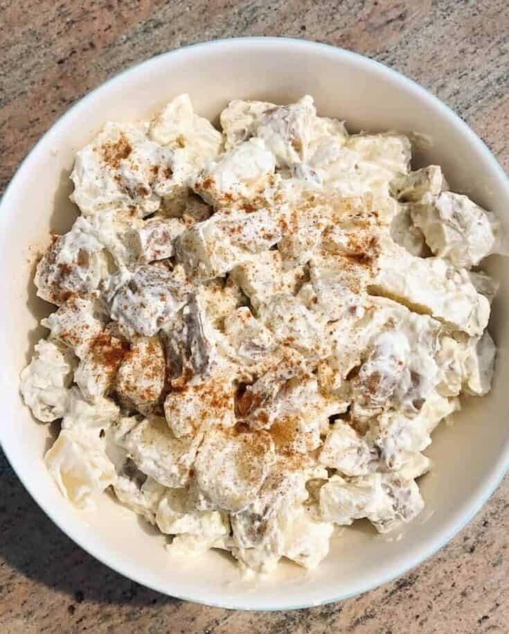 creamy potato salad with mayonnaise