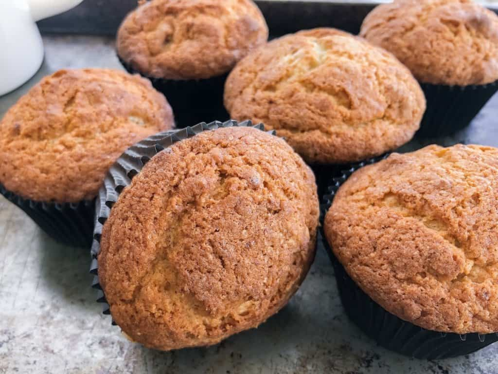 banana bread muffin grouping