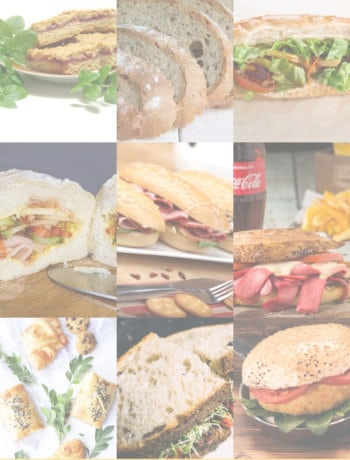 cold sandwich ideas for lunch in a grid