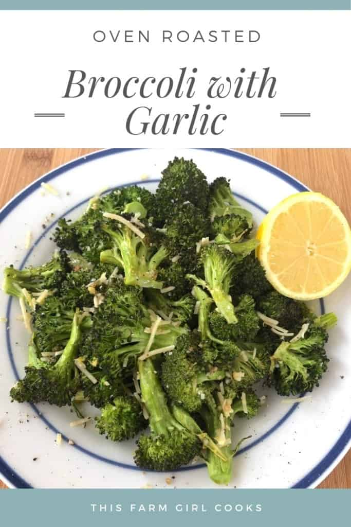 oven roasted broccoli with garlic parmesan and lemon