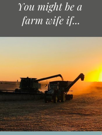 you might be a farm wife if