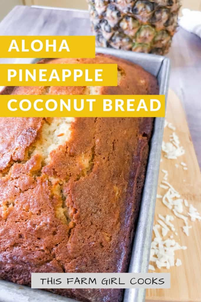 pineapple and a loaf of pineapple coconut bread
