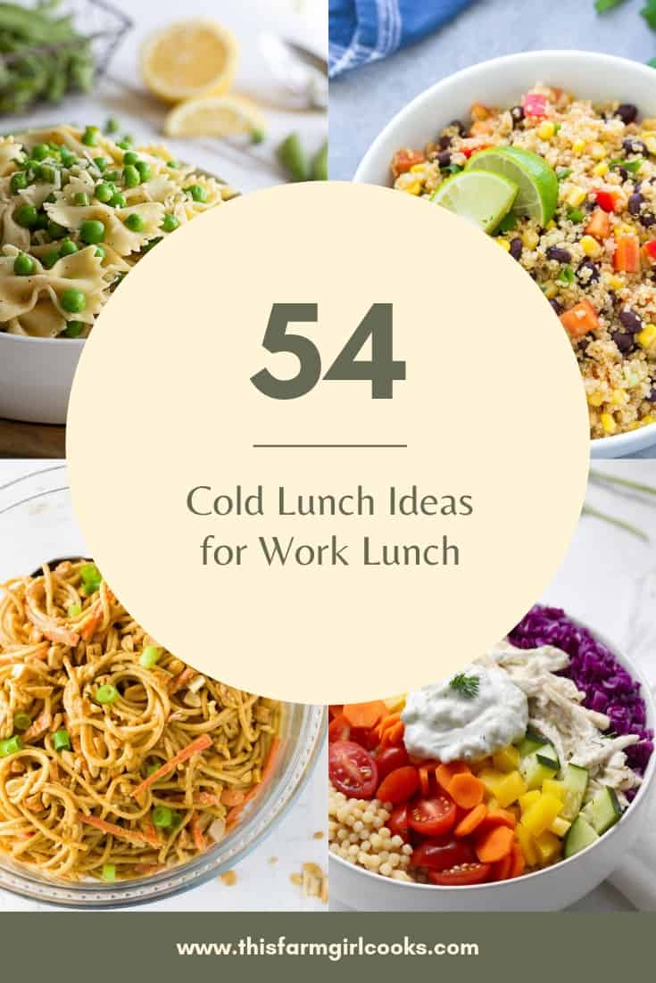 lunch ideas for work lunch