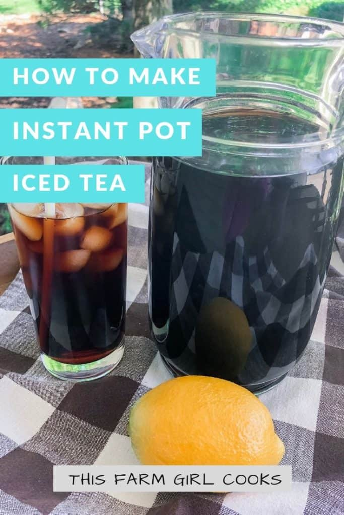 pitcher and glass of iced tea
