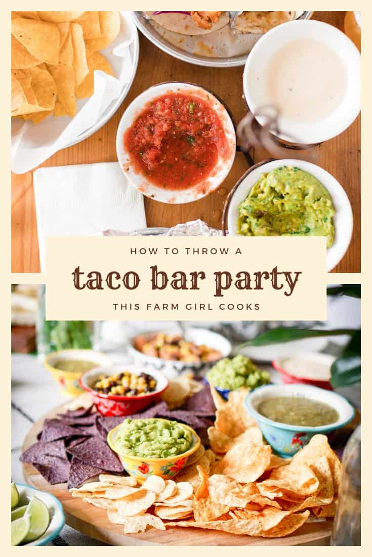 Taco Bar Checklist + How to Plan A Taco Bar Party