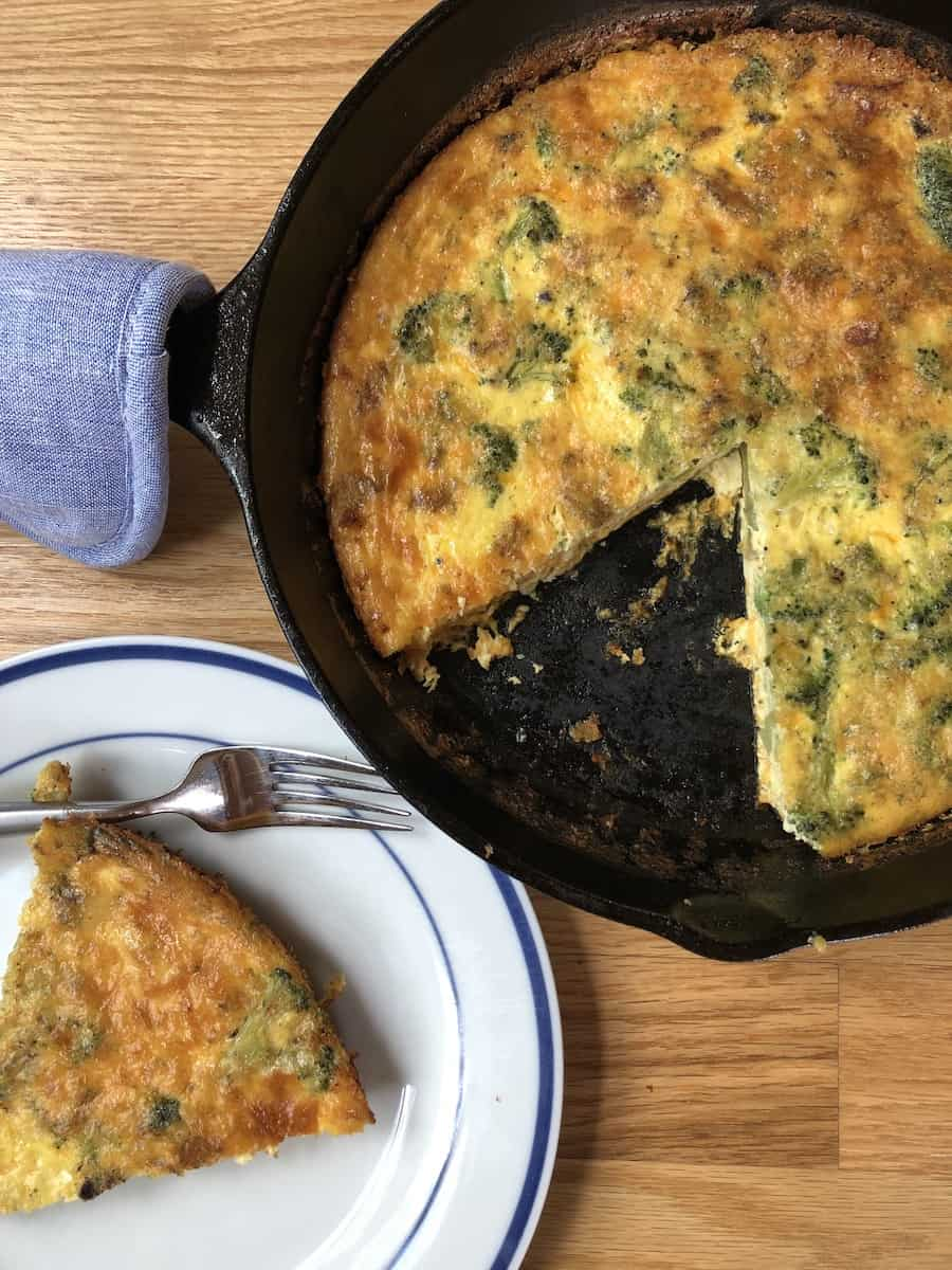 crustless quiche with bacon broccoli and cheese