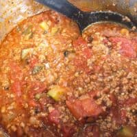 Healthy Meat Sauce with Vegetables