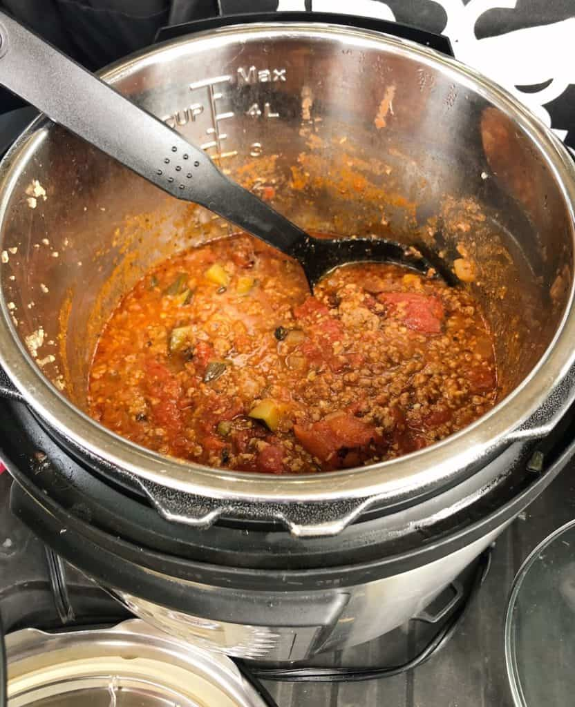 healthy meat sauce in an Instant pot