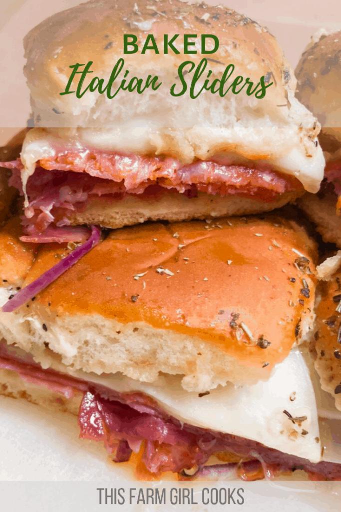 baked italian sliders sandwiches with italian seasoning