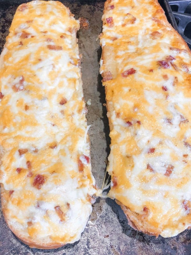 pull apart cheesy bread with bacon
