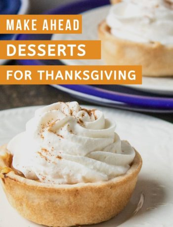 make ahead Thanksgiving Desserts