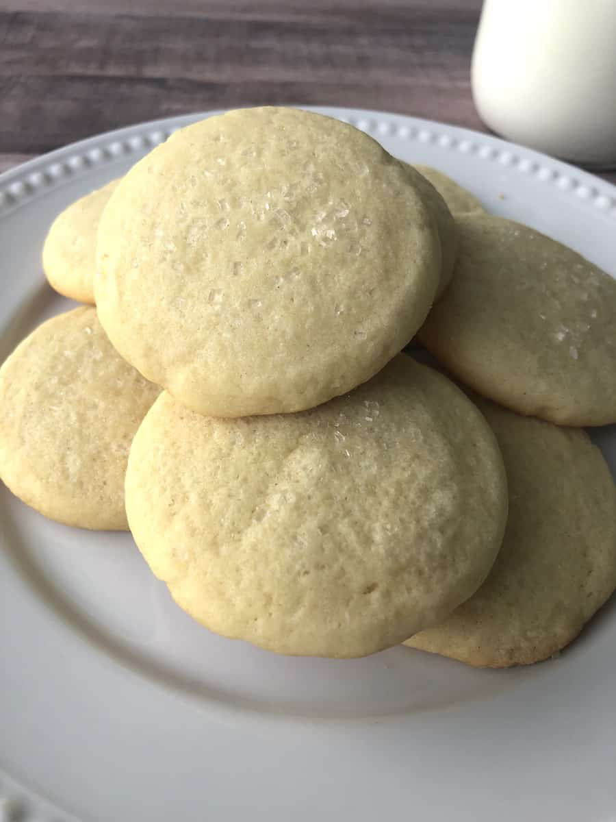 Soft & Chewy No Roll Sugar Cookies Recipe {Make Ahead}