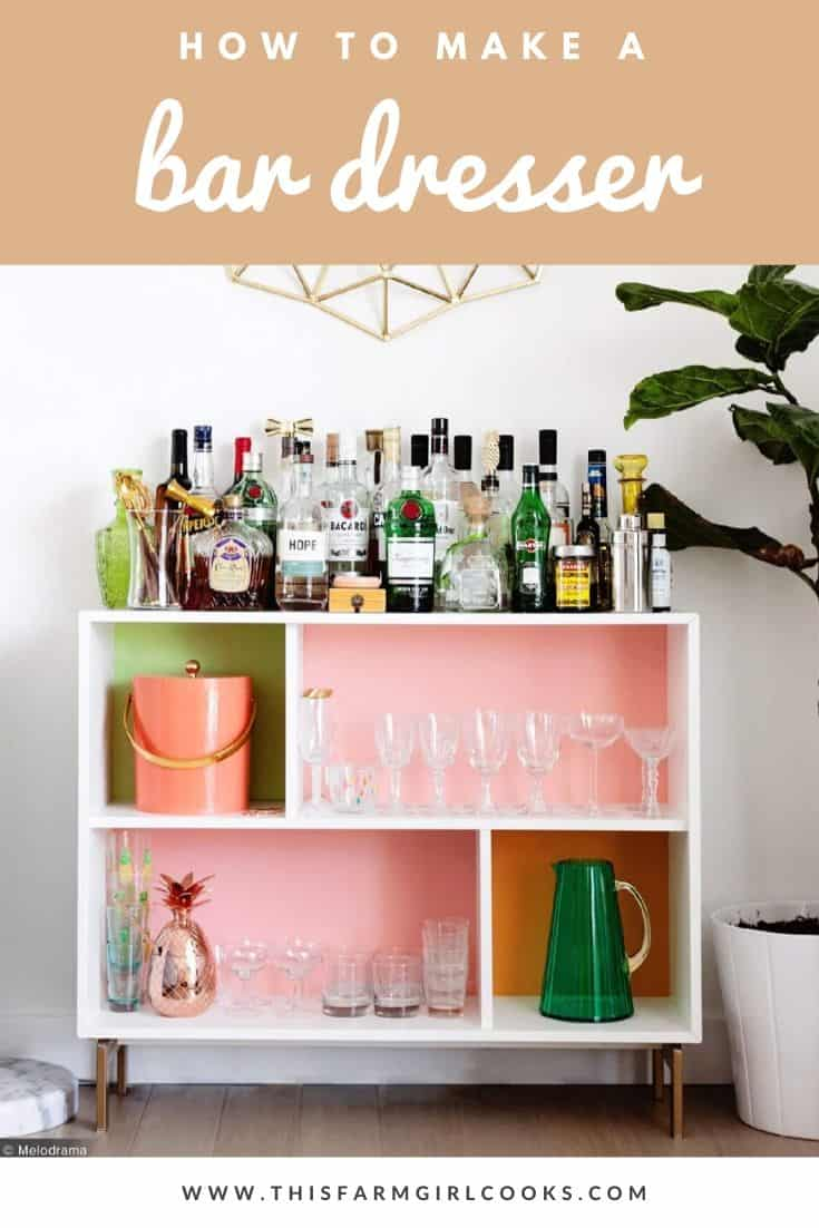 how to make a bar dresser