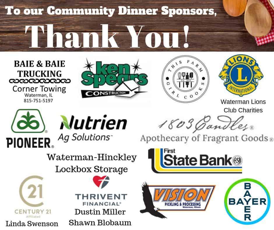 community dinner sponsors