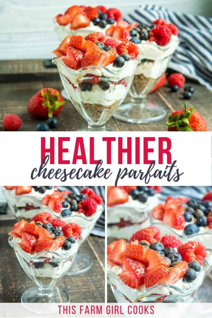 healthier no bake cheesecake parfait