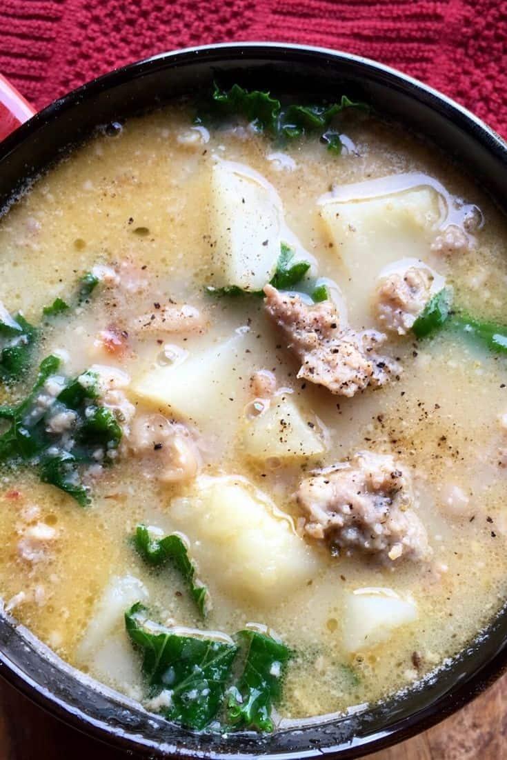 sausage kale potato soup