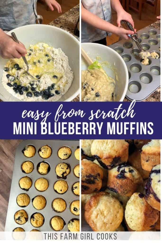 mini blueberry muffins pin