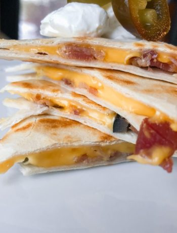 bacon quesadillas stack
