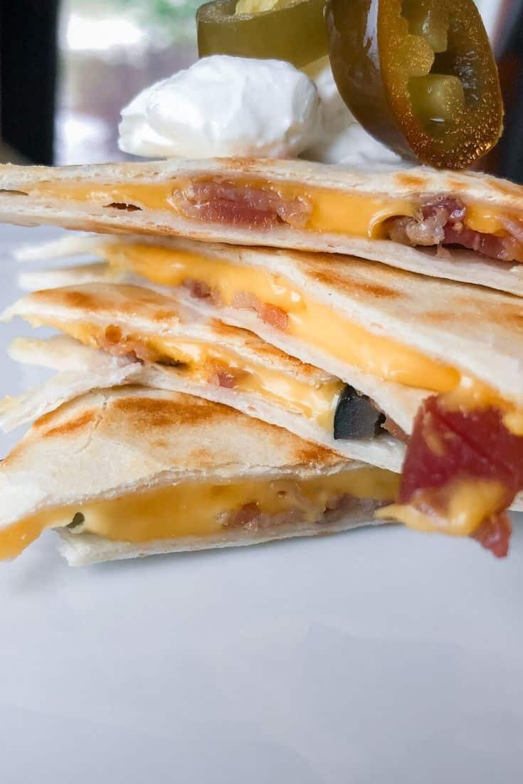 bacon quesadillas stack