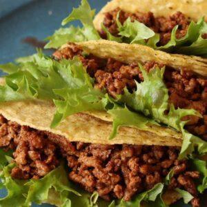 batch prepped taco meat