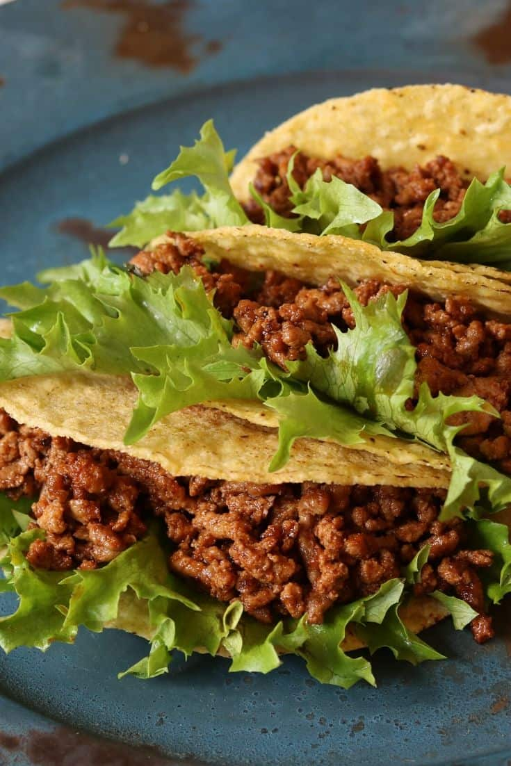 batch prepped taco meat