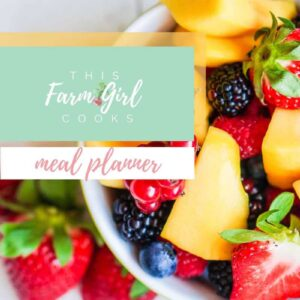 This Farm Girl Cooks Meal Planner