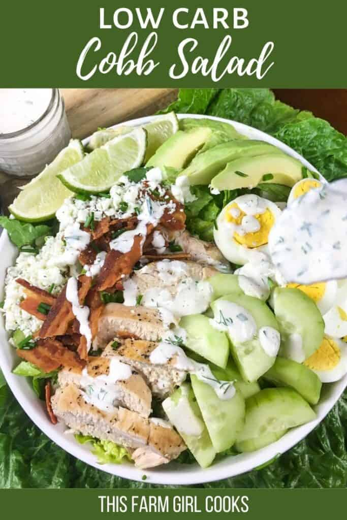 keto cobb salad pin