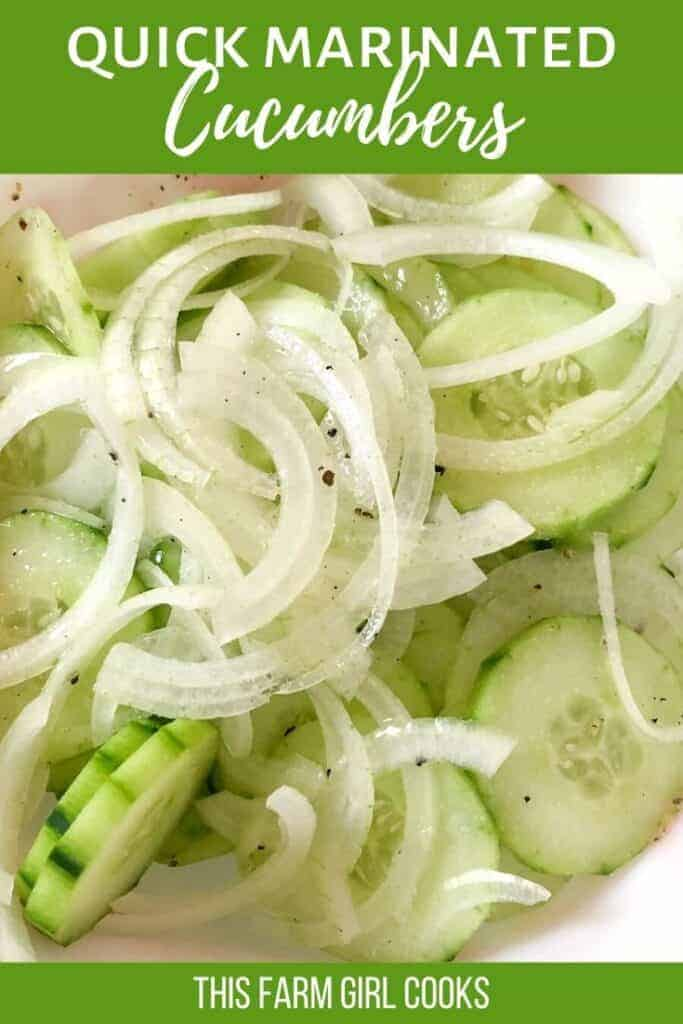 quick marinated cucumbers