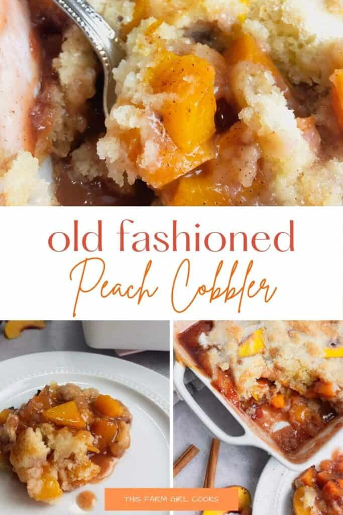 old fashioned peach cobbler pinterest