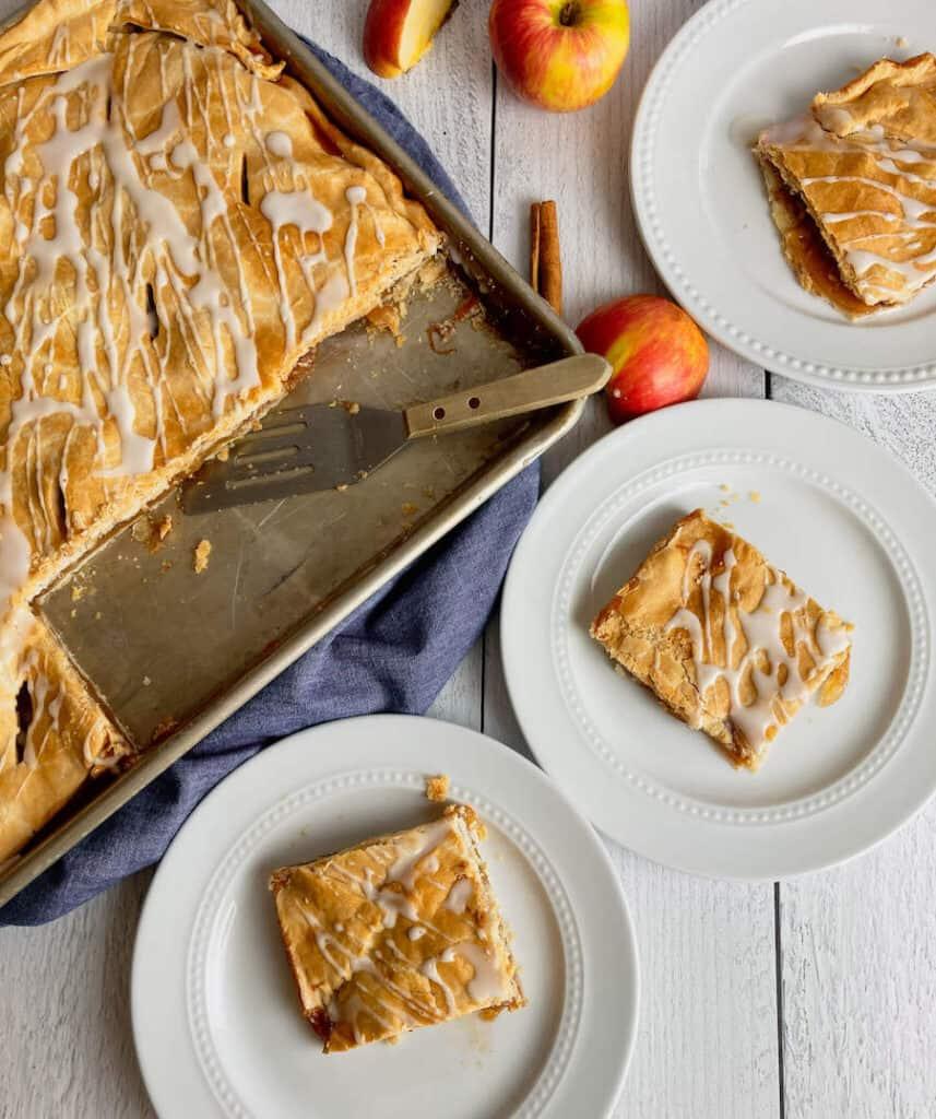 apple slab pie bars