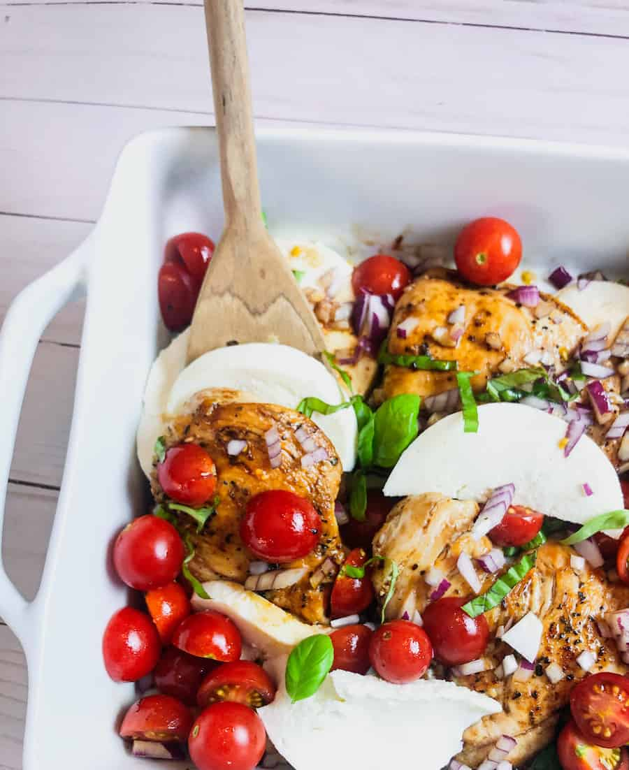 Recipe for Caprese Chicken with Balsamic Glaze | Meal Plan Monday 235