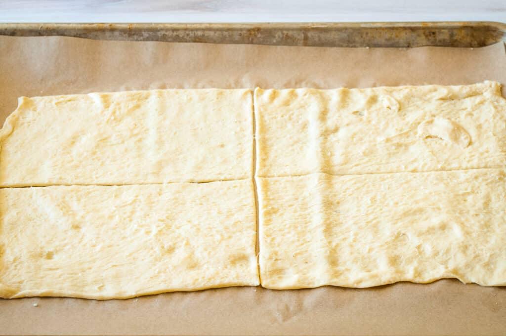 homemade pizza pocket dough