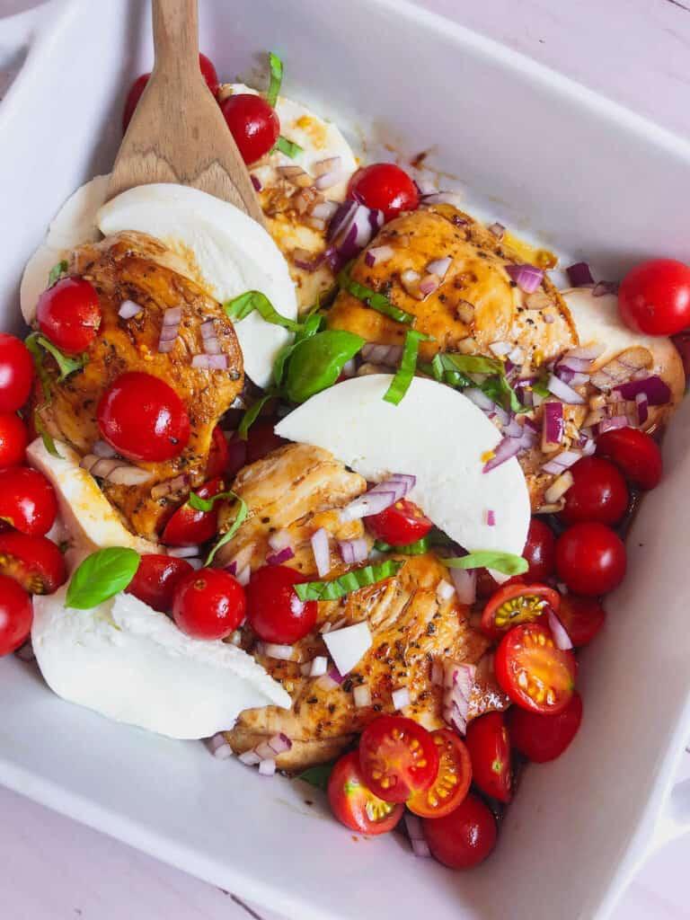recipe for caprese chicken